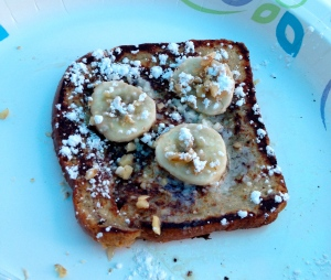 banana walnut french toast