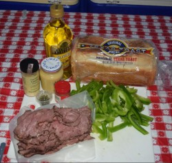 Ingredients for Texas Beef for Texas Toast