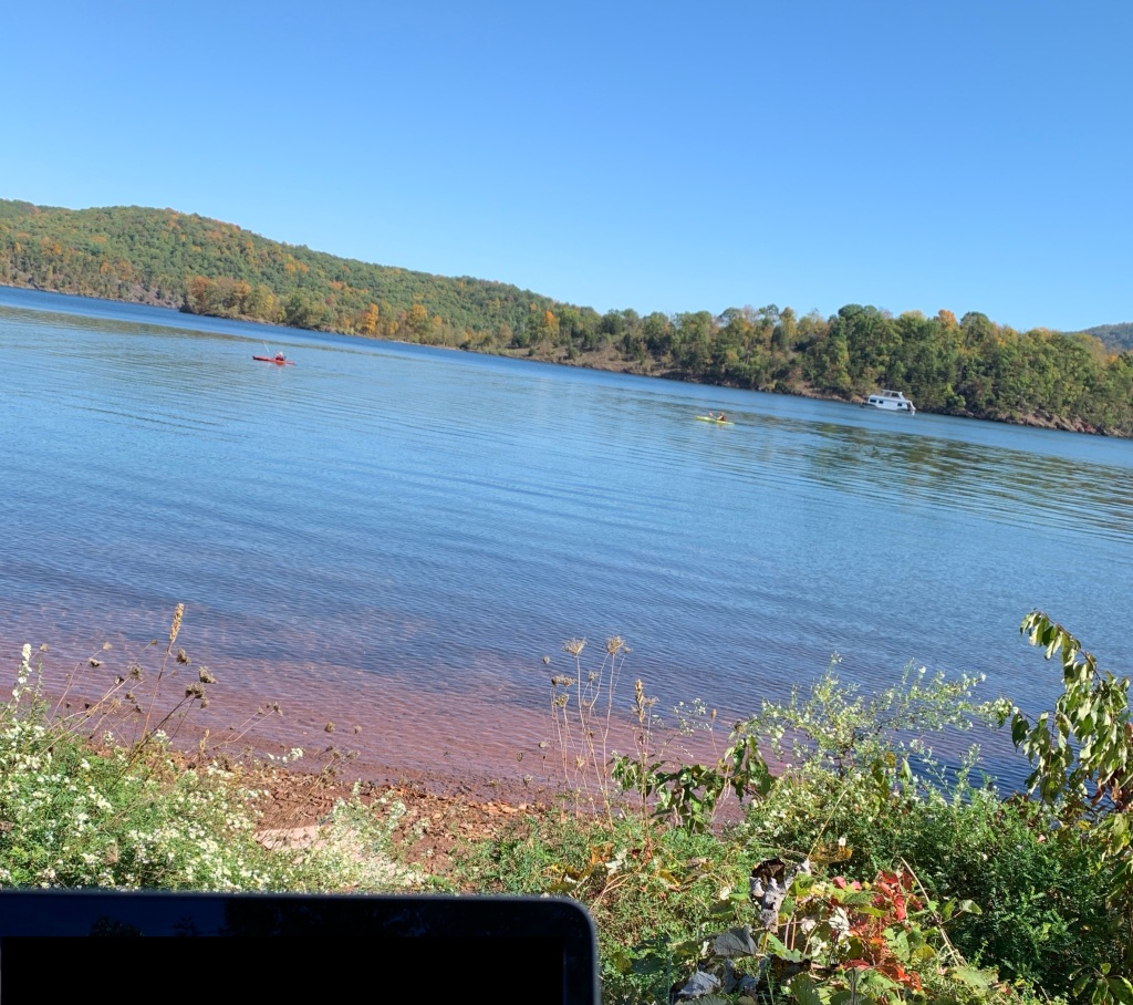 Lake view while working from camp.